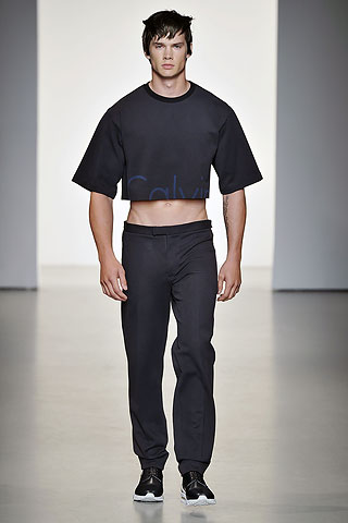 mens calvin klein crop top